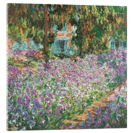 Akrylglastavla  The Artist's Garden at Giverny - Claude Monet