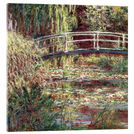 Akrylglastavla  Waterlily Pond: Pink Harmony - Claude Monet