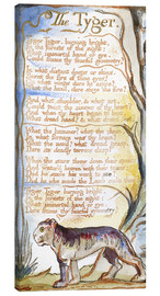 Canvastavla  The Tyger - William Blake