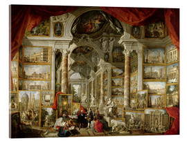 Akrylglastavla  Gallery with pictures of Modern Rome - Giovanni Paolo Pannini