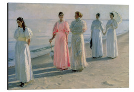 Aluminiumtavla  Ladies on the beach - Michael Peter Ancher