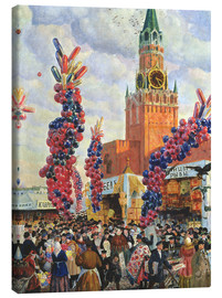 Canvastavla  Easter Market at the Moscow Kremlin - Boris Mihajlovic Kustodiev