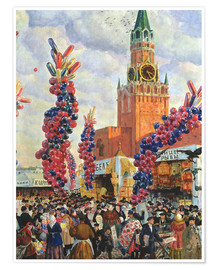 Premiumposter  Easter Market at the Moscow Kremlin - Boris Mihajlovic Kustodiev