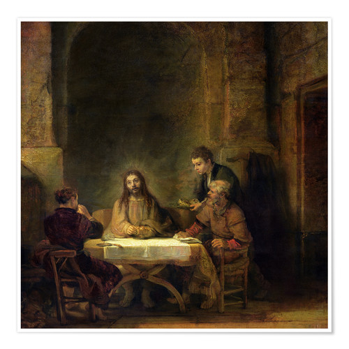 Premiumposter The Supper at Emmaus