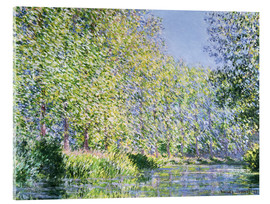 Akrylglastavla  Bend in the Epte River near Giverny - Claude Monet