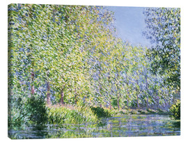 Canvastavla  Bend in the Epte River near Giverny - Claude Monet