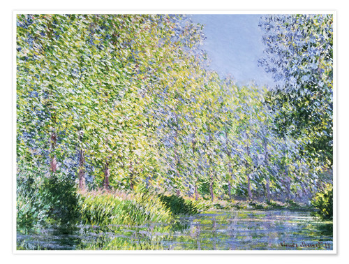 Premiumposter Bend in the Epte River near Giverny