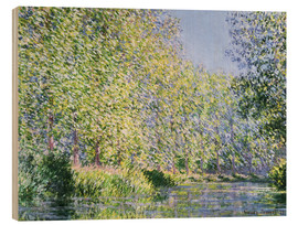 Trätavla  Bend in the Epte River near Giverny - Claude Monet