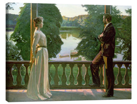Canvastavla  Nordic Summer Evening - Sven Richard Bergh