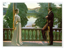 Premiumposter  Nordic Summer Evening - Sven Richard Bergh