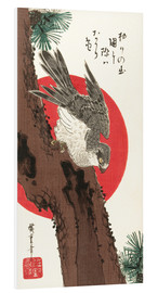 PVC-tavla  Falcon, Pine, and New Year Sunrise - Utagawa Hiroshige
