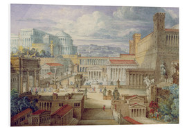 PVC-tavla  A Scene in Ancient Rome - Joseph Michael Gandy