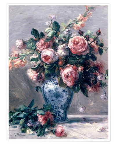 Premiumposter Vase of Roses
