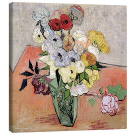 Canvastavla  Roses and Anemones - Vincent van Gogh