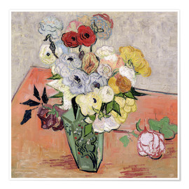 Premiumposter  Roses and Anemones - Vincent van Gogh
