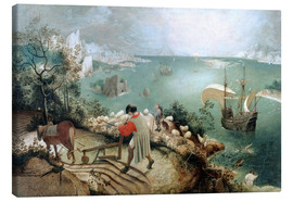 Canvastavla  Landscape with the fall of Icarus - Pieter Brueghel d.Ä.