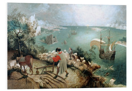 PVC-tavla  Landscape with the fall of Icarus - Pieter Brueghel d.Ä.