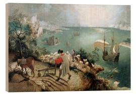 Trätavla  Landscape with the fall of Icarus - Pieter Brueghel d.Ä.
