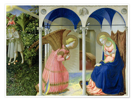 Premiumposter  The Annunciation - Fra Angelico
