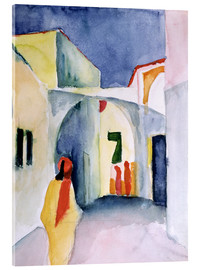 Akrylglastavla  Alley in Tunis - August Macke