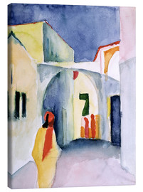 Canvastavla  Alley in Tunis - August Macke