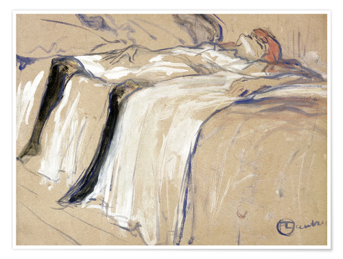 Premiumposter Woman lying on her Back - Lassitude