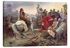 Canvastavla  Vercingetorix Throws Down his Arms at the Feet of Julius Caesar - Lionel Noel Royer