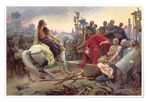 Premiumposter Vercingetorix Throws Down his Arms at the Feet of Julius Caesar