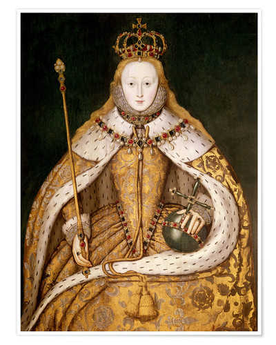 Premiumposter Queen Elizabeth I in Coronation Robes