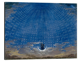 Aluminiumtavla  The Hall of Stars in the Palace of the Queen of the Night - Karl Friedrich Schinkel