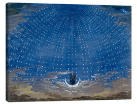 Canvastavla  The Hall of Stars in the Palace of the Queen of the Night - Karl Friedrich Schinkel
