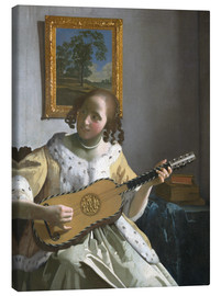 Canvastavla  Guitar player - Jan Vermeer