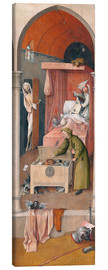 Canvastavla  Death and the Miser - Hieronymus Bosch