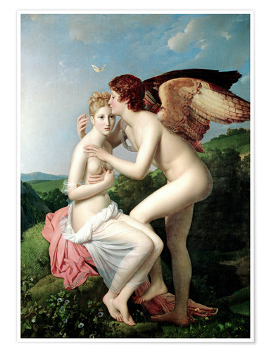 Premiumposter Psyche Receiving the First Kiss of Cupid