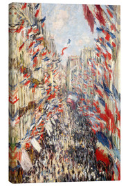 Canvastavla  Rue Montorgueil, celebrations June 30 - Claude Monet