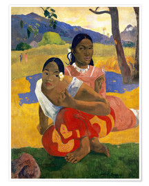 Poster  When Will You Marry? - Paul Gauguin