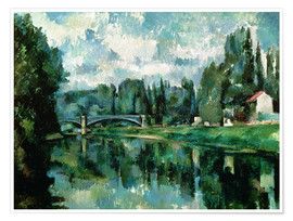 Premiumposter  The Banks of the Marne at Creteil - Paul Cézanne