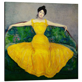 Aluminiumtavla  Lady in a yellow dress - Maximilian Kurzweil