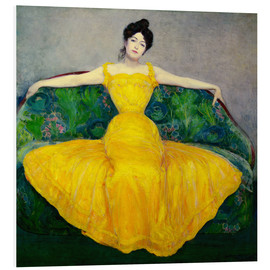 PVC-tavla  Lady in a yellow dress - Maximilian Kurzweil