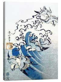 Canvastavla  Waves and Birds - Katsushika Hokusai