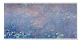 Premiumposter Waterlilies: Two Weeping Willows (detail)
