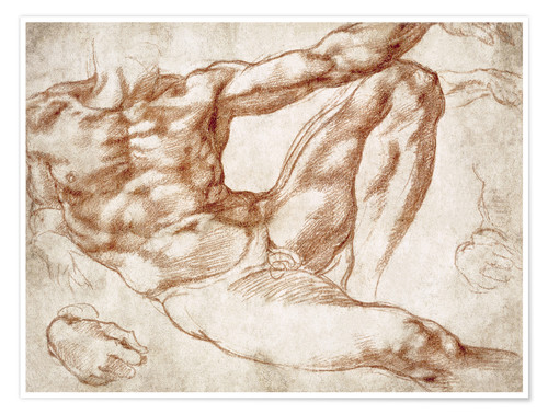 Premiumposter Study on Adam from The Creation of Adam