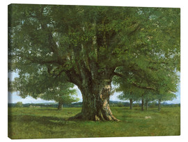 Canvastavla  The Oak of Flagey - Gustave Courbet