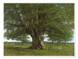 Premiumposter  The Oak of Flagey - Gustave Courbet