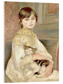 Akrylglastavla  Julie Manet with Cat - Pierre-Auguste Renoir