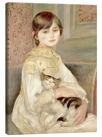 Canvastavla  Child with cat (Julie Manet) - Pierre-Auguste Renoir