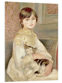 PVC-tavla  Child with cat (Julie Manet) - Pierre-Auguste Renoir