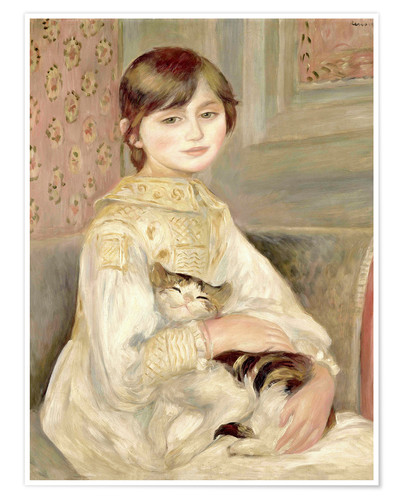 Premiumposter Child with cat (Julie Manet)