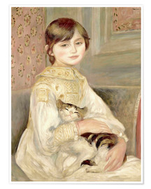 Premiumposter  Child with cat (Julie Manet) - Pierre-Auguste Renoir
