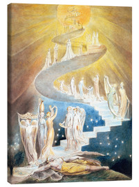 Canvastavla  Jacob's ladder - William Blake